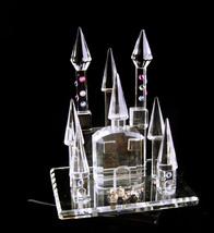 crystal castle figurine - miniature crystal pink rhinestone palace - Per... - $95.00
