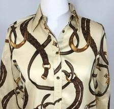 Ralph Lauren Womens XS Equestrian Shirt Long Sleeve Horse  - $27.72