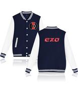 XXS-4XL Popular EXO Letters Printed Baseball Jacket Buckle Outwear Tops - $19.00+