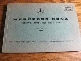 Mercedes-Benz Type 190C 190Dc 200 200D 230 Parts Catalog Manual 1962 -19... - $62.57