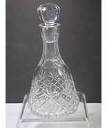 Signed Lenox Cut glass Charleston Crystal decanter Made in USA - $34.02
