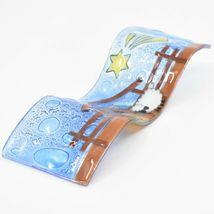 Fused Art Glass Christmas Nativity Star Wavy Décor Sun Catcher Handmade Ecuador image 6