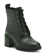 NEW TIMBERLAND BLACK WATERPROOF EMBOSSES LEATHER  WOMEN BOOTS SIZE 8 M $200 - $137.74
