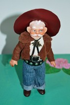Vintage Handmade Doll Cowboy Texas man in Traditional Clothes 1970s. USA - $23.87