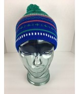 Lord & Taylor Vintage Childrens Beanie Winter Ski Hat Cap Blue Green Nor... - $24.74