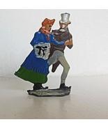 Vintage Hand Painted Heinrichsen Lead Figure Skating Man and Woman - $24.00