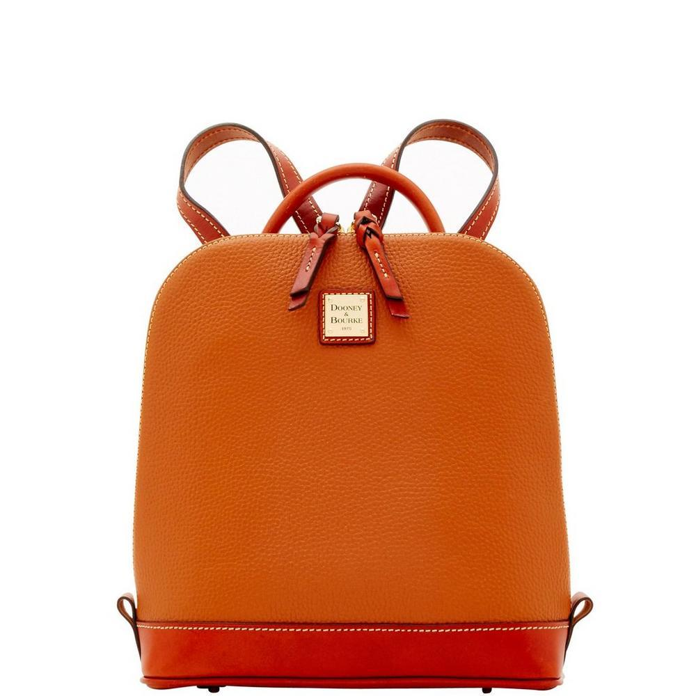 Dooney & Bourke Pebble Pod Zip Backpack Caramel