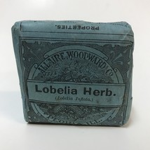 Antique Apothecary Package Lobelia Herb Allaire Woodward Asthma Remedy P... - $54.44