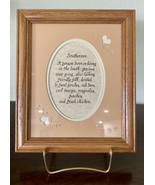Vintage Southern Saying Framed Wall Art Southerner Quote Calligraphy Cot... - $20.57