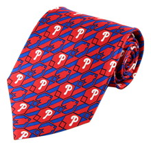 Philadelphia Phillies Mens Silk Necktie MLB Baseball Red Neck Tie Sports... - $32.95