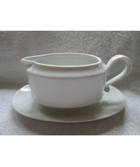 Heinrich H & C China carmen pattern gravy boat with attached plate - $20.00