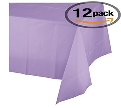 Mountclear 12-Pack Disposable Plastic Tablecloths - 54 x 108 Inch size T... - $23.57
