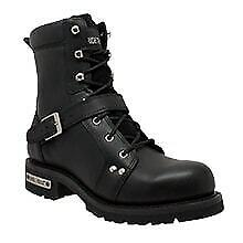 "Primary image for Men's 6"" YKK Shoe Apparel Biker Leather Boot Rider Daniel Smart Motorcycle Boots"
