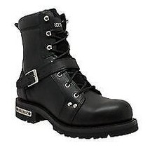 "Men's 6"" YKK Shoe Apparel Biker Leather Boot Rider Daniel Smart Motorcyc... - $137.95"