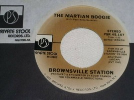 BROWNSVILLE STATION MARTIAN BOOGIE MR JOHNSON SEZ 45 RPM RECORD PRIVATE ... - $19.99