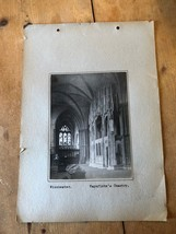 ANTIQUE/VINTAGE PHOTO OF WAYNFLETE'S CHANTRY AT WINCHESTER (ENGLAND) A4-... - $6.36