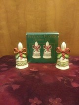 Fitz and Floyd Christmas Bells Salt & Pepper Shakers Set 2004 - $18.69