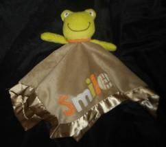 Carter's Baby Green Frog Smile Security Blanket Rattle Stuffed Animal Plush - $33.39