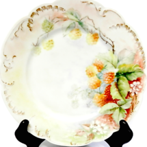 "Haviland Limoges Porcelain Plate Golden Raspberries France 7.75"" 1888-1896 - $15.00"