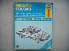 Nissan Pulsar,  Haynes Repair Manual, Service Guide 1983-1986. Book - $10.84