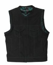 Son Of Anarchy Denim Jax Teller Camo Woodsman Leather Motorcycle Biker Vest - $104.99