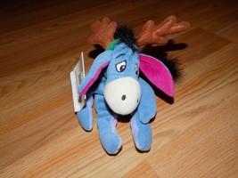 Disney Store Winnie the Pooh Reindeer Eeyore Bean Bag Plush Donkey Holid... - $15.00