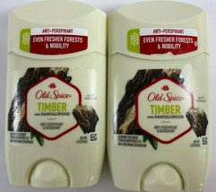 Lot of 2 Old Spice Timber With Sandalwood Anti-Perspirant & Deodorant 1.... - $14.60