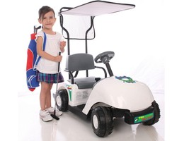 Junior Golf Cart Pro Ride On Battery Operated 6 Volt Max 5 MPH Kid's Ages 3 to 5 image 4