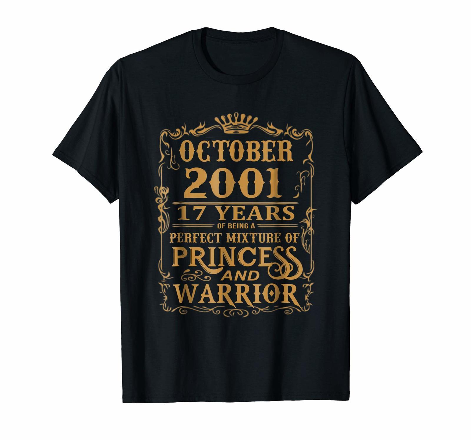 Uncle Shirts -   October 2001 A Perfect Mixture Of Princess And Warrior Shirt Me