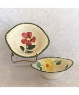 Blue Ridge Cereal Bowls One Pair (2) Southern Galleries Handpainted Unde... - $15.49