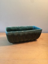 Vintage Hull USA Rectangular Green Planter (F42) Art Pottery
