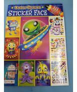 Outer Space Sticker Face Fun Book Heather Brown Designs 333 Stickers - $14.95
