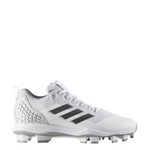 adidas Men Freak X Carbon Mid Baseball Cleats B39211 White Silver Gray S... - $39.95