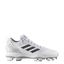 adidas Men Freak X Carbon Mid Baseball Cleats B39211 White Silver Gray Size 12.5 - $39.95