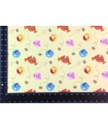 Winnie The Pooh Winceyette 100% Brushed Cotton Fabric Material 3 Sizes - $2.88+