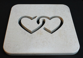 Chained Hearts Pot Holder, Hearts Kitchen Hot Plate, Chained Heart Trivet - £23.40 GBP