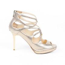 Jimmy Choo Latina Metallic Leather Sandals SZ 38.5 - ₹7,818.90 INR