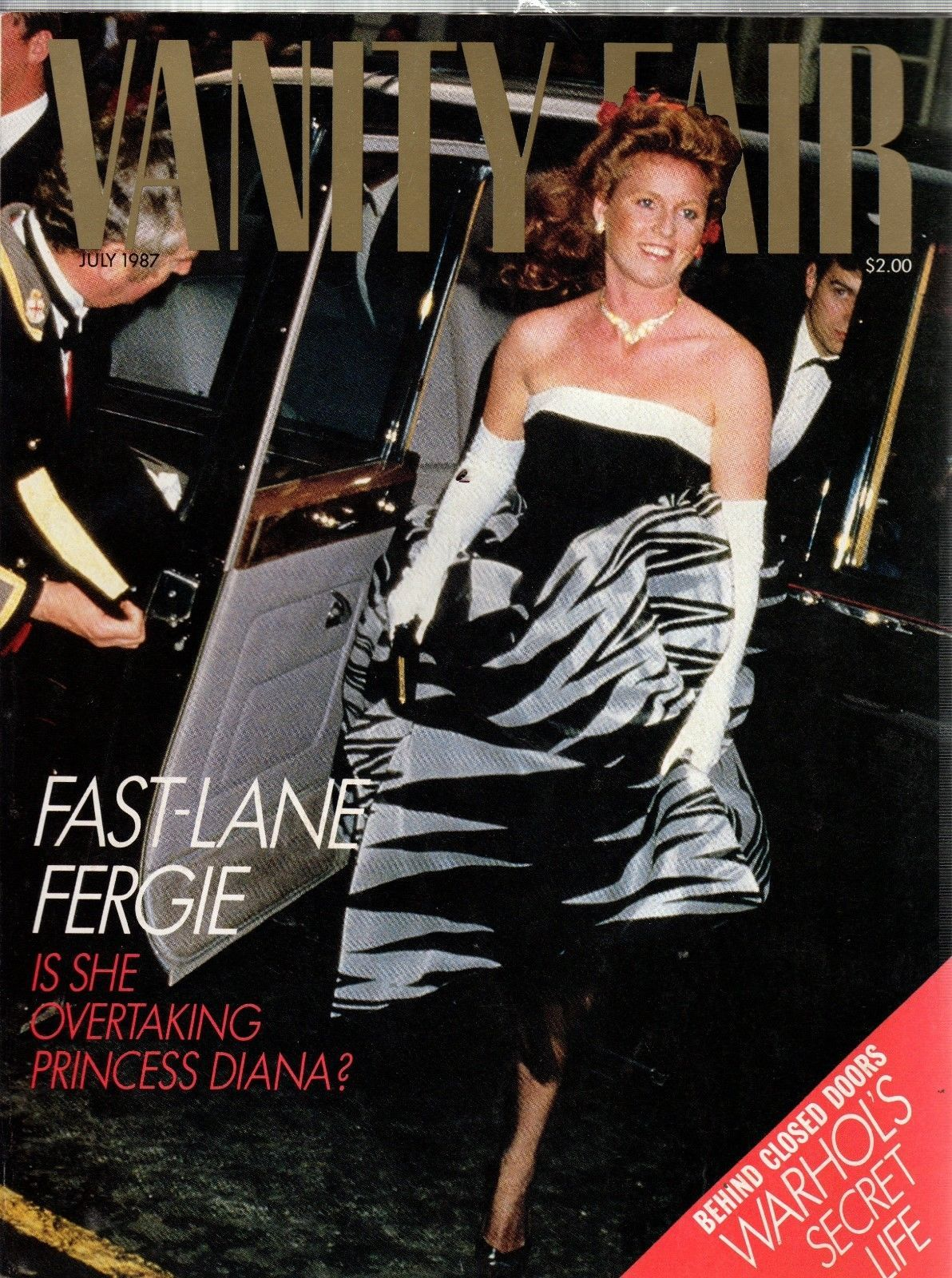 Primary image for Vanity Fair Magazine July 1987 Fast Lane Fergie- Warhol's Secret Life
