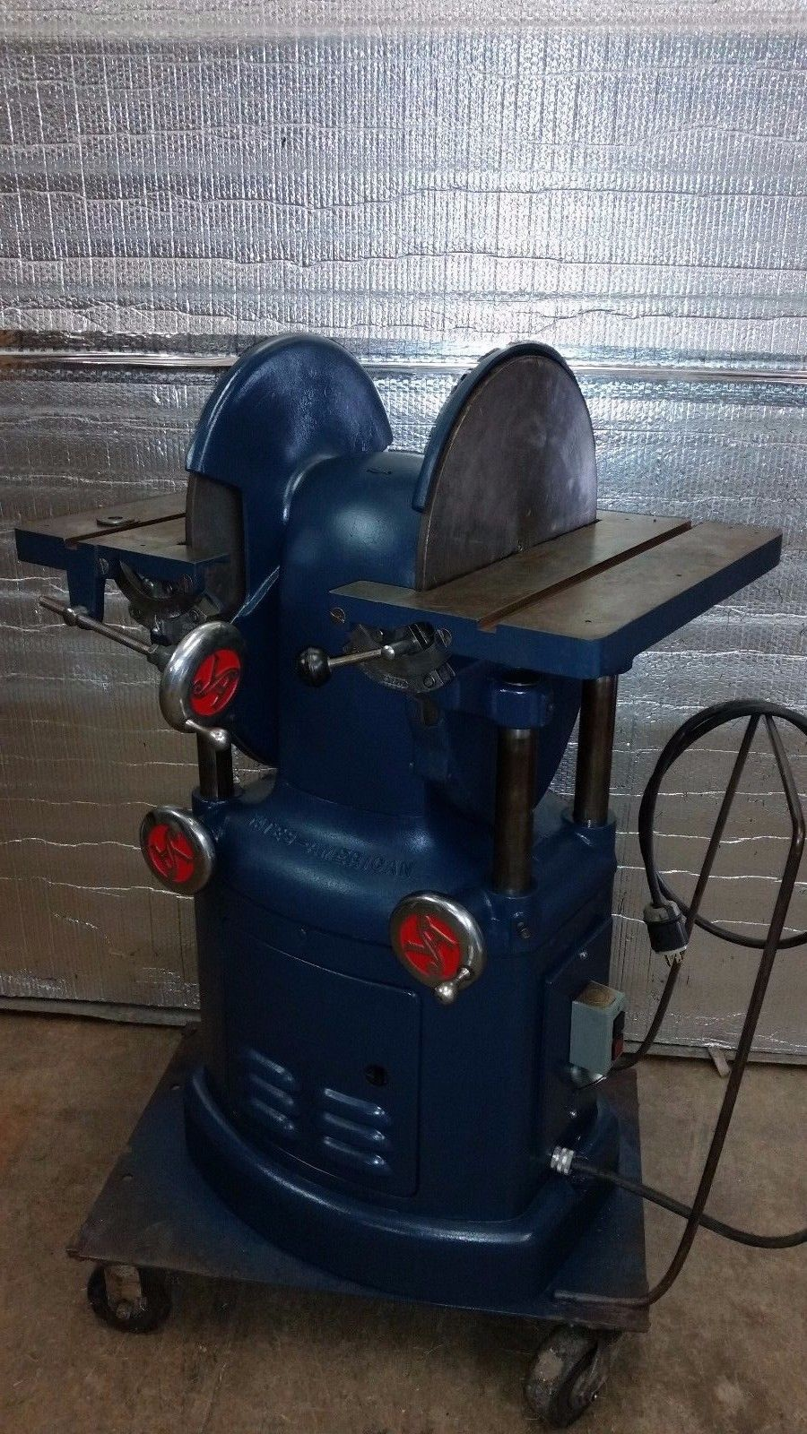 "YATES AMERICAN J-147 DE 16"" DOUBLE ENDED DISC DISK SANDER"