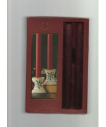Holiday Candlestick Pair - Lenox - Christmas Red - Ceramic Candleholders... - $5.87
