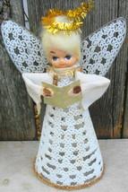 Plastic Filigree Vintage Angel Tree Topper - $12.99