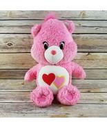 Care Bears Love A Lot Bear Pink Stuffed Animal Plush 2015 13 Inches Love... - $24.99
