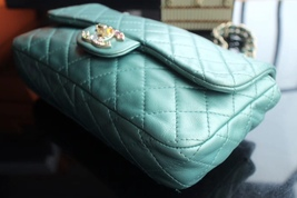 100% Authentic Chanel Limited Edition Turquoise Jewel CC Flap Bag GHW image 9