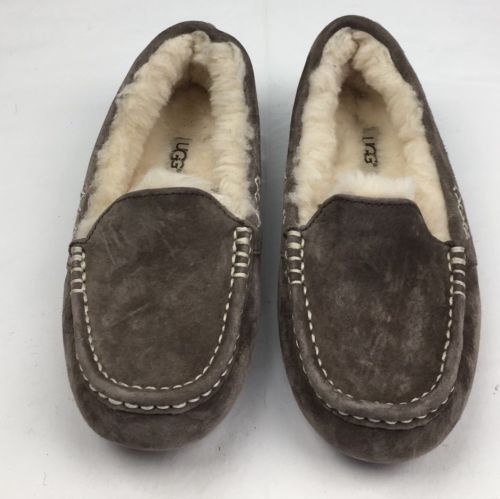 WOMENS UGG AUSTRALIA Slippers Uggs Ansley Water Resistant Brown Suede Slipper 6