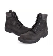 Timberland Mens 6 Inch Basic Waterproof Black Nubuck Work Boot - 11 M - $118.80