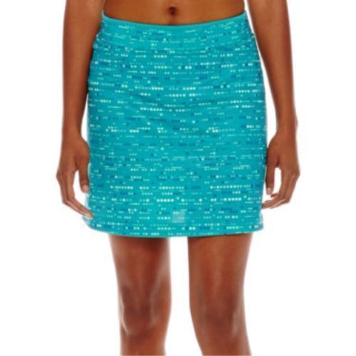 Made For Life Print Mesh Skort Dotty Stripe Blue Size PXL New