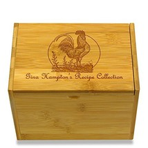 Wedding Recipe Box by Cookbook People Bamboo Rooster - $40.04