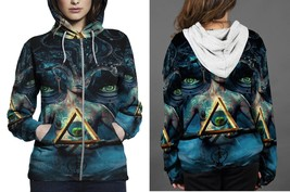 brand new for women  stealth satanic zipper hoodie thumb200