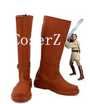 Star Wars Jedi Knight Obi-Wan Obi Wan Kenobi Cosplay Shoes Boots - $59.00