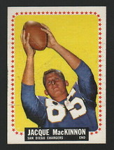 1964 Topps Football #167 - JACQUE MACKINNON - SAN DIEGO CHARGERS, ROOKIE - $5.93